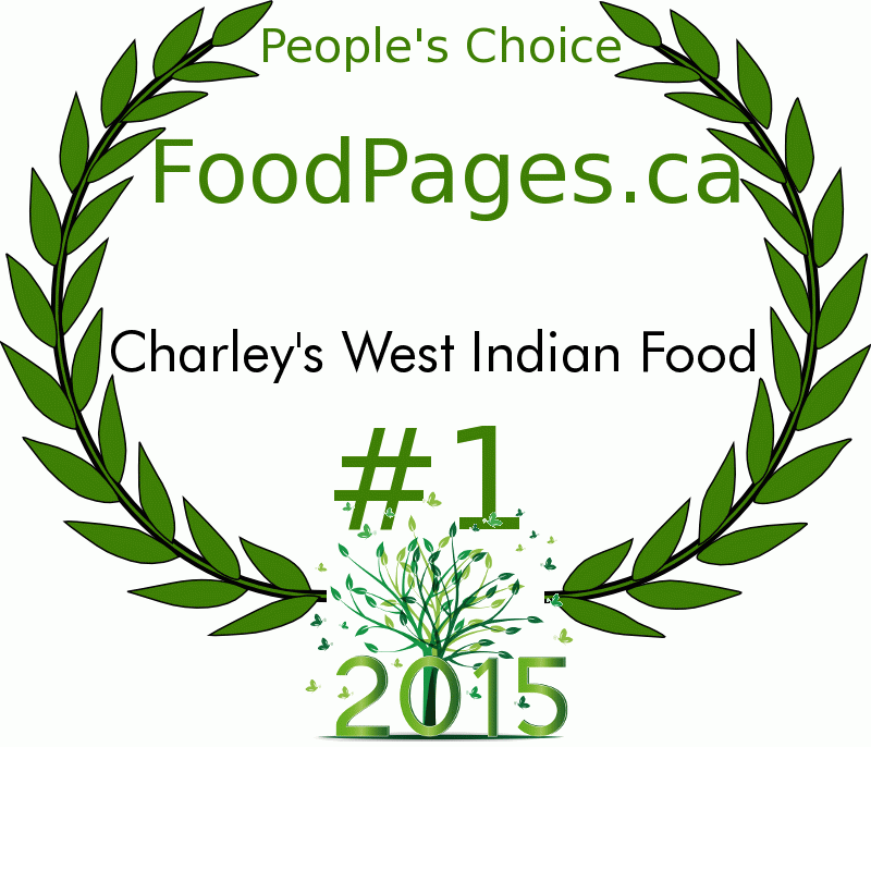 Charley's West Indian Food FoodPages.ca 2015 Award Winner